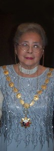 The author, Leonor orosa Goquingco, bestowed with the honour of national artist for Dance.
