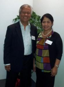 2012 President Daniel Gregorio and Secretary, Marissa Manoto.