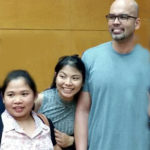 Benjie Paras with fans.